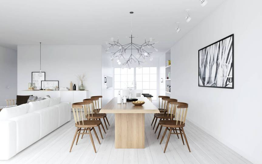 Nordic-style-dining-in-monochrome-and-wood