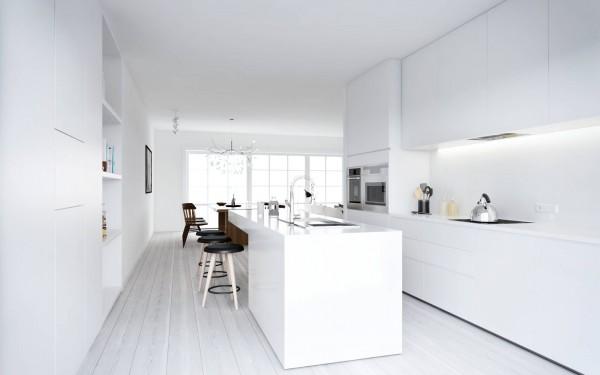 Nordic-style-minimalist-kitchen-in-white