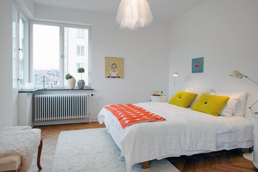 scandinavian apartement bedroom