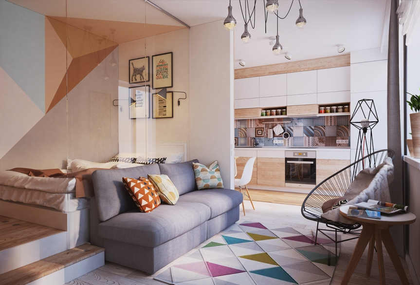 small eclectic design loft