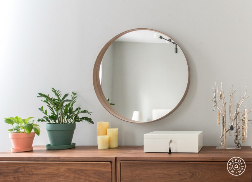 round-wood-frame-mirror