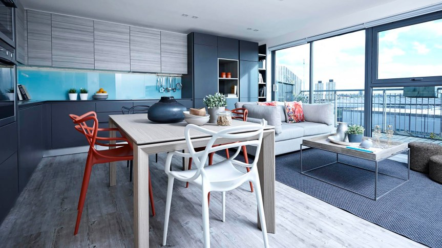 open_space_colorful_dining_chair_grey_kitchen