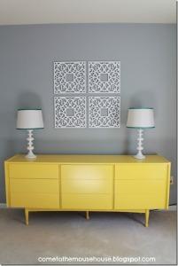 mid_century_dresser_repainted_yellow