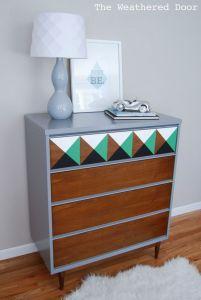 mid_century_repainted_dresser_wood_grey_green_white_black