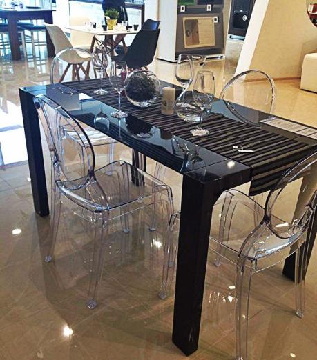 dinning scaune transparente
