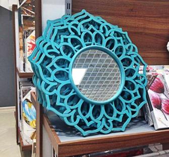 oglinda albastru